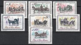 San Marino 1969 MiNr. 829/835  **/ Mnh ;   Kutschen - Postkoetsen