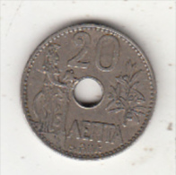 GREECE - Athena/Olive Tree, Coin 20 Lepta, 1912 - Griechenland