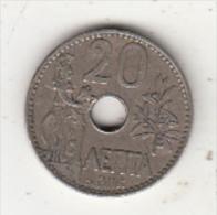 GREECE - Athena/Olive Tree, Coin 20 Lepta, 1912 - Greece
