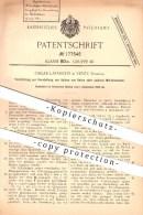 Original Patent - Oscar Lavanchy In Vevey , Schweiz , 1905 , Herstellung Von Balken Aus Beton Oder Mörtel , Zement !!! - Documents Historiques