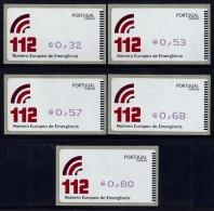 Portugal 112 Numero Europeu Emergencia ATM Label AMIEL 2011 Print Blue Color Violet - Vignettes D'affranchissement (ATM/Frama)