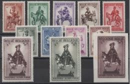Belgique - YT N° 583 à 592B - Neufs * - MH - Cote: 43,00 € - Belgium