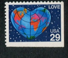 319409018 USA 1991 ** MNH SCOTT 2536 RECHTS EN ONDER ONGETAND LOVE STAMP - United States