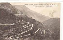 -1200-ROUTE DE SOSPEL A MENTON - LACETS DE FONTANIN - VUE PRISE DU COL A CASTILLON --TRES JOLI AFFR DU 2-4-1924 AU VERSO - Sospel