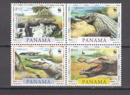 Panama 1997,4V,set,WWF,crocodile,krokodil,cocodrilo,coccodrillo,MNH/Postfris(D2307) - Autres