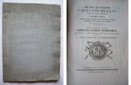 De Vita Et Scriptis Caietani Bugati Doctoris Collegii Ambrosiani Commentarius Additus Praefationis Loco Ejusdem... - Libri Vecchi E Da Collezione