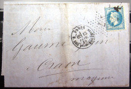 ETOILE DE PARIS N° 7 Sur 29B  --  R. DES Vlles-HAUDRtes  --  LAC  --  1869 - Marcophilie (Lettres)