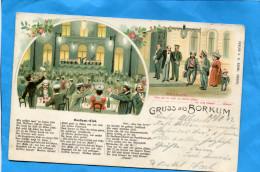 BORKUM-gruss Aus-SUPERBE-illustration -a Voyagé En 1902-verlag  Adami - Borkum