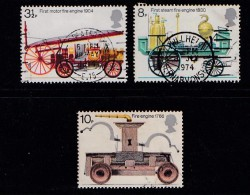UK 1974 Used Stamp(s) Fire Engines Nrs. 646-649 (3 Values Only) - 1952-.... (Elizabeth II)