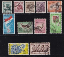 SOUTH AFRICA UNION 1961 Used Stamps Definitive Serie Wildlife 11 Values Only (not Complete 184=196 - South Africa (...-1961)