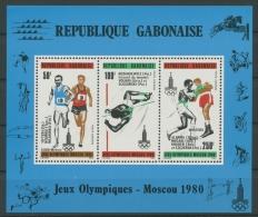 Gabun 1980 Olympiade Moskau Block 40 Postfrisch (G20148) - Gabun (1960-...)