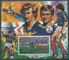 Dschibuti 1984 Fußball - Europameisterschaft Block 106 A Postfrisch (R20121) - Dschibuti (1977-...)