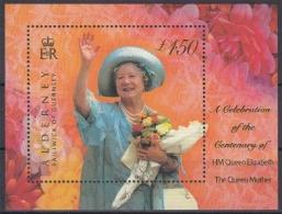 Alderney MiNr. Bl. 8 ** 100. Geburtstag Von Königin Mutter Elisabeth - Alderney
