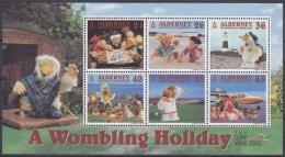 Alderney MiNr. Bl. 7 ** Fernsehtrickfiguren Wombles - Alderney