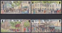 Alderney MiNr. 121/28 O Historische Entwicklung Von Alderney - Alderney