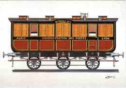 CPM 68 (Haut-Rhin) Riquewihr, Musée D'histoire Des P.T.T. D'Alsace - Wagon Poste Paris-Lyon 1852, Par Bruckmann - Post
