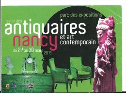 Ticket D'entrée Salon Des Antiquaires De Nancy , 2015 , Statuette Ivoire - Toegangskaarten