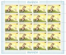 Rwanda 1986 Mi. 1349 Sheet Of 20 MNH, Akagera Parc, Giraffe Girafe, Giraffa By Buzin - 1980-89: Nuovi