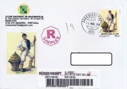 Portugal  Cover Personalised Stamps Personalizado Traje Tipico Carimbo Zarco 2010 - Cartes-maximum (CM)