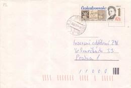 J4450 - Czechoslovakia (1987) 262 55 Petrovice U Sedlcan; Stamp: Day Postage Stamps - V. H. Brunner (1886-1928) Engraver - Timbres Sur Timbres