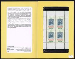 1978 National Stamp Exhibition Kookaburra  Sheet Of 4  In Presentation Pack - Presentation Packs