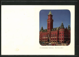 Diaphanie-CPA Hälsingborg, Radhuset, The Town Hall, Halt Gegen Das Licht - Schweden