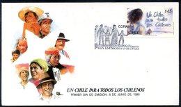 CHILE 1990 - CHILE FOR EVERYONE FDC VF - Chili