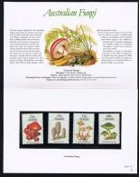 1981  Autralian Funghi  - Mushrooms  Set Of 4  In Presentation Pack - Presentation Packs