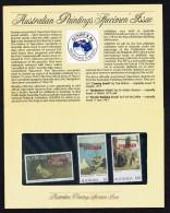1981   High Value Paintings  Overprinted «SPECIMEN»  Set Of 3  In Presentation Pack - Presentation Packs