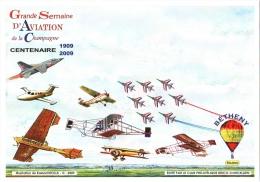 CPM 51 Reims-Bétheny - 2009 Centenaire Grande Semaine D'Aviation De Champagne. Illustr. Roland IROLLA TBE - Andere (Lucht)