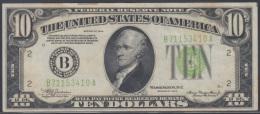 F-EX1100. US 10$ 1934 LETRA B. - Washington