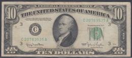 F-EX1105. US 10$ 1950A LETRA B. - Washington