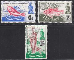 Gibraltar 1966 Cancelled, Sc# , SG 190-192 - Gibraltar