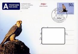 LSJP Iceland Postal Stationery Bird Of Prey 2011 - Eagles & Birds Of Prey