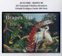 LSJP Brazil Souvenir Sheet Birds Parrots 1988 MNH - Parrots