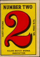 FIGURE OF 2-MATCHBOX LABELS-SAFETY MATCHES-VINTAGE LABELS FROM INDIA-MB-135 - Zündholzschachteletiketten