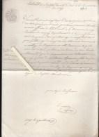 Vay 44 - Extrait De Registre 1827 - Copie Ecrite Par Le  Maire De 1851 - Cachets Généralité