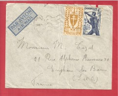 N°Y&T  N°260+288 DOUALA  Vers   FRANCE 1947 - Cameroun (1915-1959)