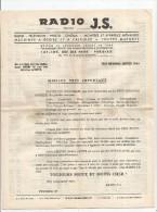 Bon De Commande , Lettre Commerciale , Tarif , RADIO J.S , 1964, Paris , 10 Pages, Télévision, Montres, Frais Fr : 1.55€ - Factures & Documents Commerciaux