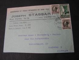 == Belgien    Cv.   To Germany  1935 - Belgien