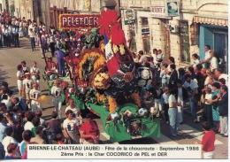 Brienne Le Château : Fête De La Choucroute 1986 - 2è Prix Le Char COCORICO De PEL Et DER (coq) - Autres Communes