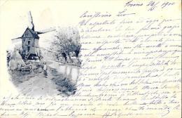 [DC4778] CARTOLINA - POSTKARTE - MULINO A VENTO - Viaggiata - Old Postcard - Postcards