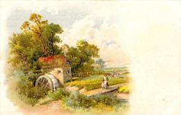 [DC4793] CARTOLINA - AGRICOLTURA - MULINO - CONTADINI - PERFETTA - Non Viaggiata - Old Postcard - Non Classificati
