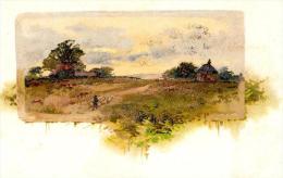 [DC4795] CARTOLINA - AGRICOLTURA - CONTADINO - IL PASCOLO - PERFETTA - Non Viaggiata - Old Postcard - Agricoltura