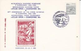 SCHACH-CHESS-ECHECS-SCACC HI, YUG, 1990, Special Postmark !! - Scacchi