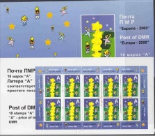 Europa Cept 2000 Transdniestria Booklet With Sheetlet Of 10v ** Mnh (F4329F) - Europa-CEPT