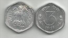 India 3 Paisa Paise 1971. UNC/AUNC - Inde