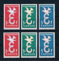 Luxemburg 1958 Europa/Cept 3 Mal Mi.Nr. 590/92 Kpl. Satz ** - Ungebraucht