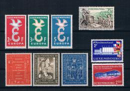 Luxemburg 1958 Kleines Lot 9 Werte ** - Luxemburg