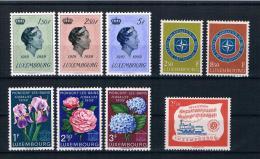 Luxemburg 1959 Kleines Lot 9 Werte ** - Luxemburg